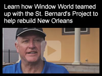 Window World Baton Rouge teams up with the St. Bernard Project