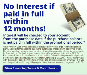 No Interest 12 Months Financing